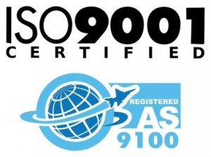 AS9100 and ISO 9001 Certified